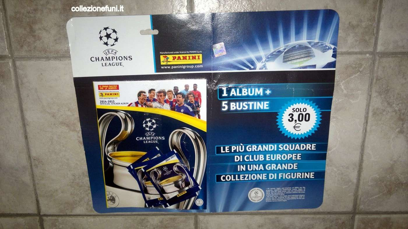 Album Blister calcio Champions League 2014-15