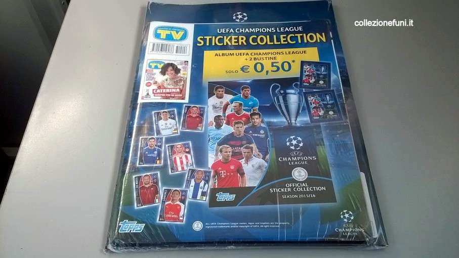 Album Blister calcio Champions League 2015-16 Topps