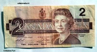 Banconota. Canada Two Dollars