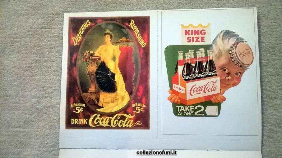 Coca Cola Postcard 5° coppia di cartoline