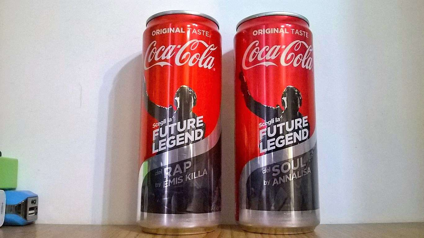 Coca Cola lattine 2019 Future Legend Emise Killa ed Annalisa